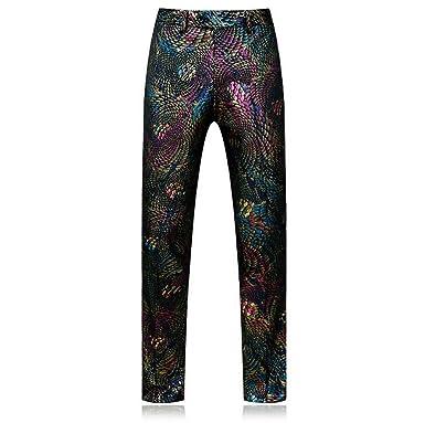 beautyjourney Pantalones de Traje con Lentejuelas para ...