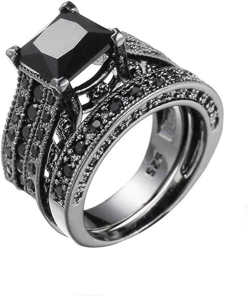 YUYOUG Mode Femmes Cristal Argent Zircon Cubique Bague Bijoux Cadeau