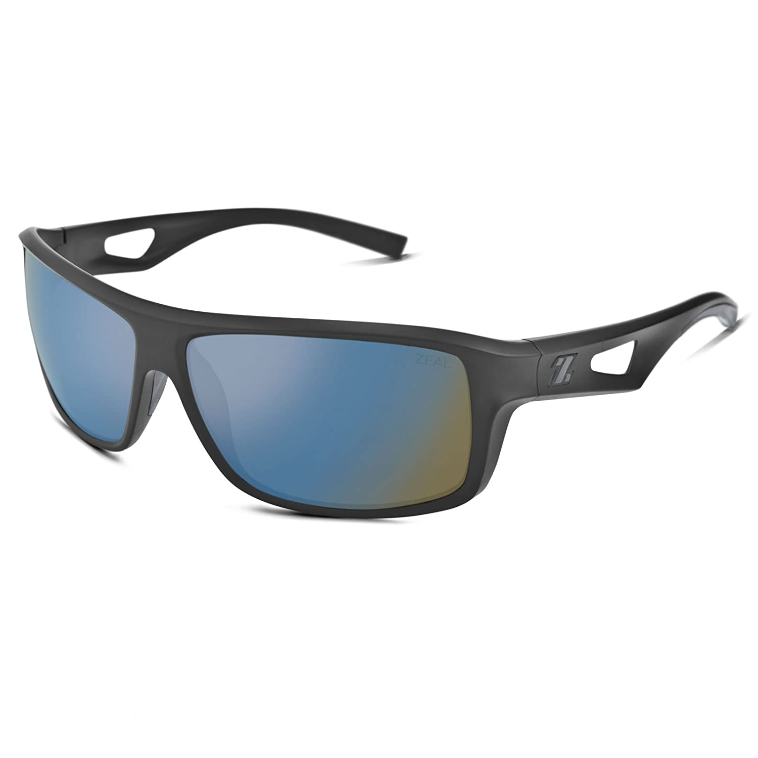 800693cee4b Amazon.com  Zeal Optics Range Polarized Sunglasses - Black Frame with  Bluebird HT Lens  Sports   Outdoors