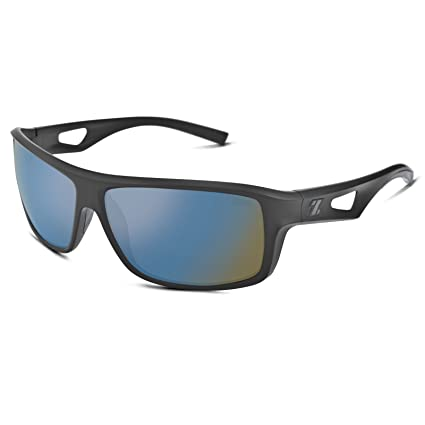 c55ad6cf68911 Amazon.com  Zeal Optics Range Polarized Sunglasses - Black Frame with  Bluebird HT Lens  Sports   Outdoors