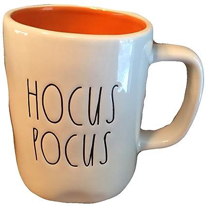 16bc767644f Amazon.com: Rae Dunn Hocus Pocus Large Letter Halloween Cup Mug ...