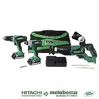 Hitachi 4-Tool 18-V Power Tool Combo Kit w/Soft Case Deals