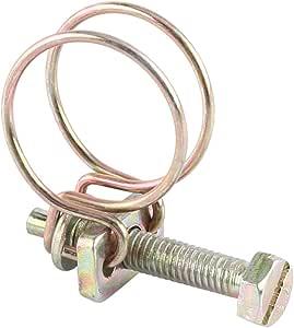 10pcs Clips de Manguera de Doble Alambre Abrazadera de Tuber/ía para Tubos Abrazadera de Tuber/ías de Doble Alambre 19mm(16-19)