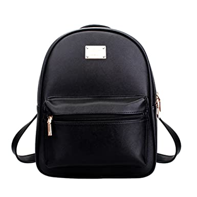 Amazon.com: Tonlili Cool Leather Mini Womens Backpacks Purse ...