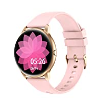 Smart Watch Compatible iPhone and Android Phones IP68 Waterproof, Watches for Men Women Round Smartwatch Fitness Tracker Heart Rate Monitor Digital Watch with Personalized Watch Faces