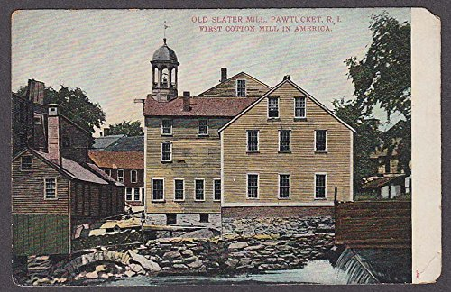 - Old Slater Cotton Mill Pawtucket RI 1st in America undivided back postcard 1900s