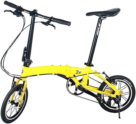 XMIMI Bicicleta Plegable Marco de Aluminio Bicicleta de Viaje de ...