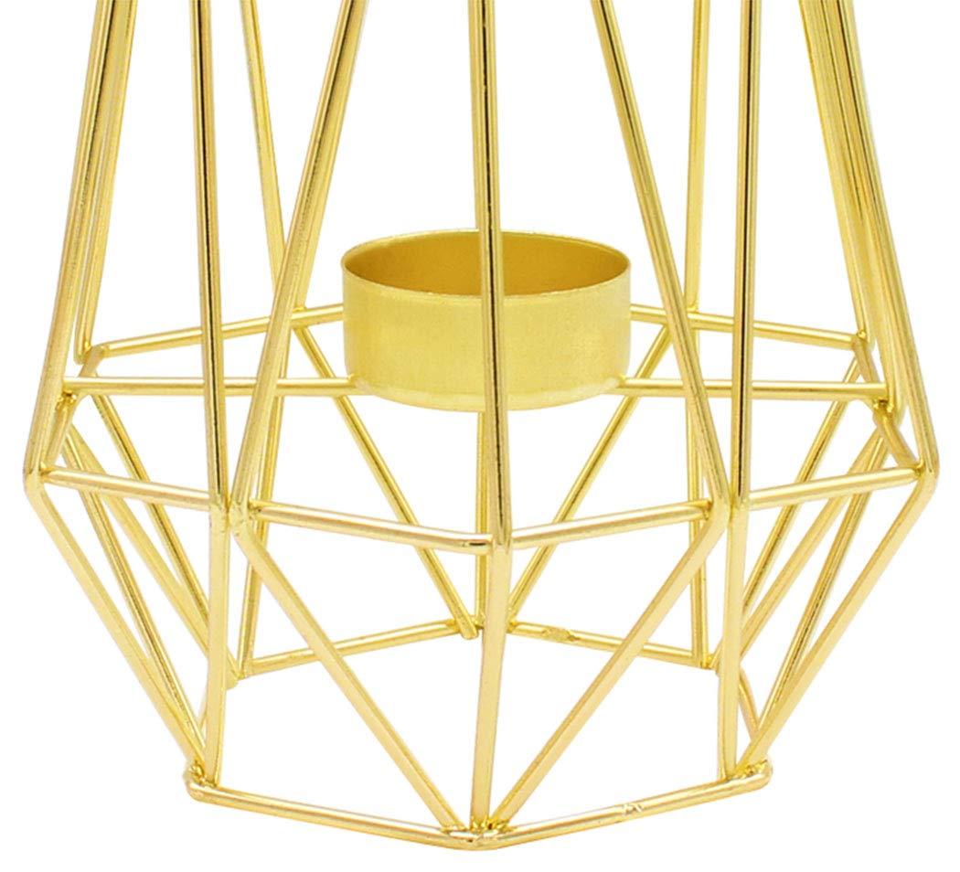 Duffire Bougeoir De Nordic Light D/écoration De Table Coupe /à Bougie Romantique Europ/éenne en Or Rose Bougeoir en Fer Forg/é Dor/é
