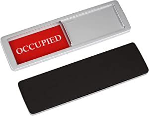 """Occupied Vacant Sign, Yarkor Door Signs Privacy Sign for Office, Conference/Meeting Room, Bathroom, Hotel, Restroom, Classroom - Magnetic and Double-Sided Tape Option, 7"""" x 2"""" Slider Indicator"""