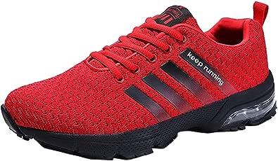 Hombre Zapatillas de Correr Casual para Deportivas de Malla Zapatillas Antideslizantes Zapatillas Ligeras: Amazon.es: Zapatos y complementos