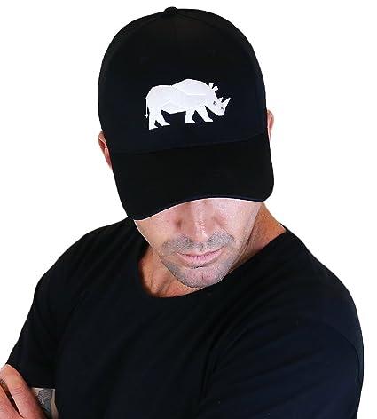 26240cb93dd423 Sorai Rhino Embroidery Cap, Black: Amazon.in: Sports, Fitness & Outdoors