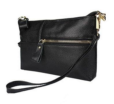 Amazon.com: Pinetree Genuine Leather Clutches Handbag Ladies Small ...