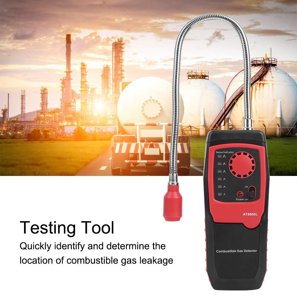 GPL Rilevatore portatile di gas combustibili Display a LED Misuratore di fughe di gas Gamma 50-10.000 ppm per metano