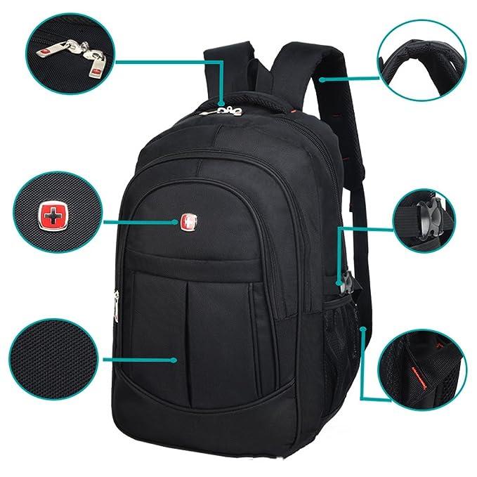 Amazon.com   DeLamode Men Swiss Army knife Notebook Backpack Double Shoulder Travel Student Bag Black-20   Casual Daypacks