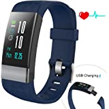 COSVII Fitness Tracker Large Color Screen, IP67 Waterproof Smart Bracelet with Heart Rate Monitor, Sleep Monitor, Blood Pressure Monitor,Pedometer, Calorie Tracker, Call Reminder& SMS Push