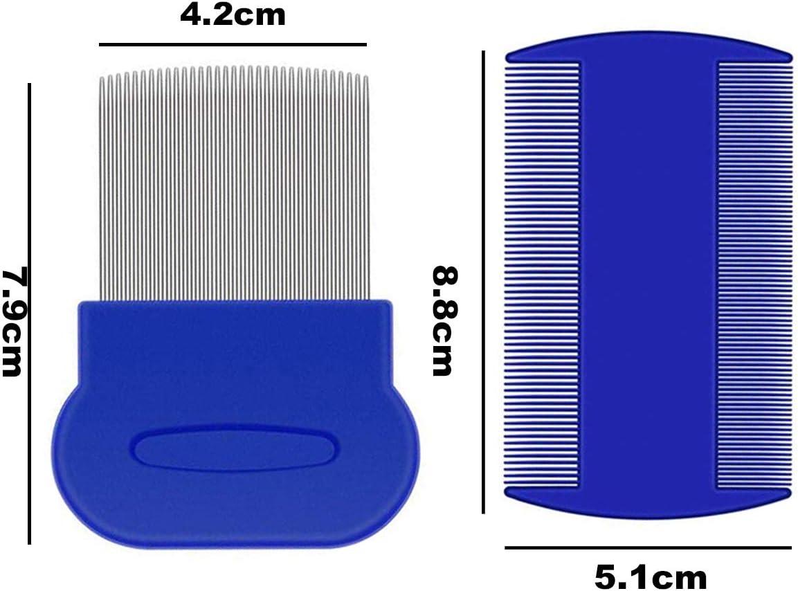 peine para pulga y lagañas de color azul
