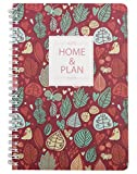 Aimeio Retro Floral Printed Daily Bill Organizer and Planner Notebook,Home Financial Planning Journal Home Budget Account Book,A5/8.26x5.62 Inch,128 Pages