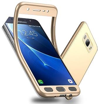 Galaxy J7 (2016) Funda, WindCase Soft Anti-rasguños Mate TPU Carcasa 360 Grados + Protector de Pantalla de Vidrio Templado para Samsung Galaxy J7 ...