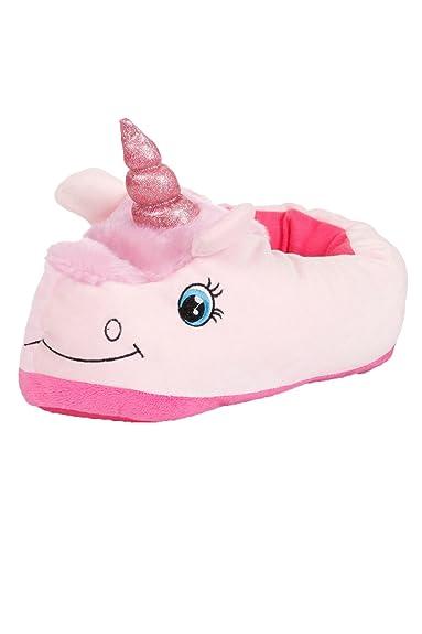 Lora Dora Damen Hausschuhe Pink Rosa Einhorn