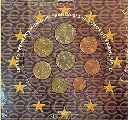 FR 2001 France 2001 Euro Set 8 Coins UNC Monnaie De Paris Good