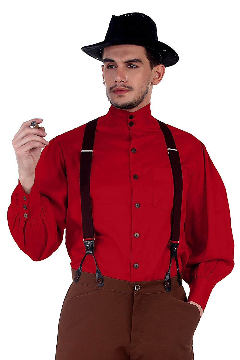 ThePirateDressing Steampunk Victorian Cosplay Costume Mens Seigneur Linen Shirt C1292 C1292-Parent