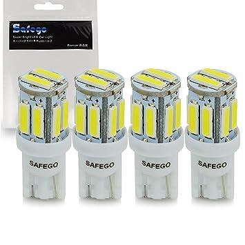 T10 168 Led Car Bulb   Safego 4pcs W5W LED White 10 SMD 7020 LED