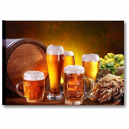 Birra 4 - Quadro Moderno 70 x 50 cm Stampa su Tela Canvas | Quadri Moderni  Cucina Rustica Vintage, Arredamento Ristorante, Bar, Pub, Decorazioni ...