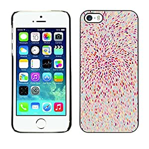 X-ray Impreso colorido protector duro espalda Funda piel de Shell para Apple iPhone 5 / iPhone 5S - Pink Feathers Abstract Floral Nature Pattern