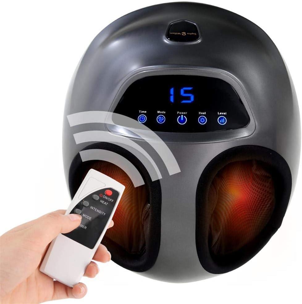 Sophia William Foot Massager Machine with Heat Shiatsu Deep Rolling Kneading Massage with Air Compression, Foot Warmer