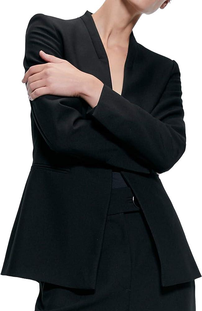 Zara 7839/789/800 Blazer para Mujer con Bolsillos - Negro - X ...