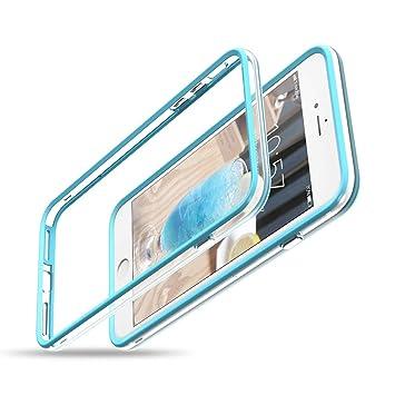 Blau CE-Link iPhone 7 H/ülle iPhone 8 H/ülle Hard Handyh/ülle Ultra Slim D/ünn Bumper mit Innerem Silikon Schutz Schutzh/ülle Protective Sto/ßfest Hart PC Cover