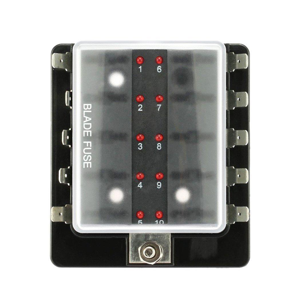 Sicherungskasten, Bodecin LED Beleuchtete Klemmen Stromkreis Kfz ATC ...