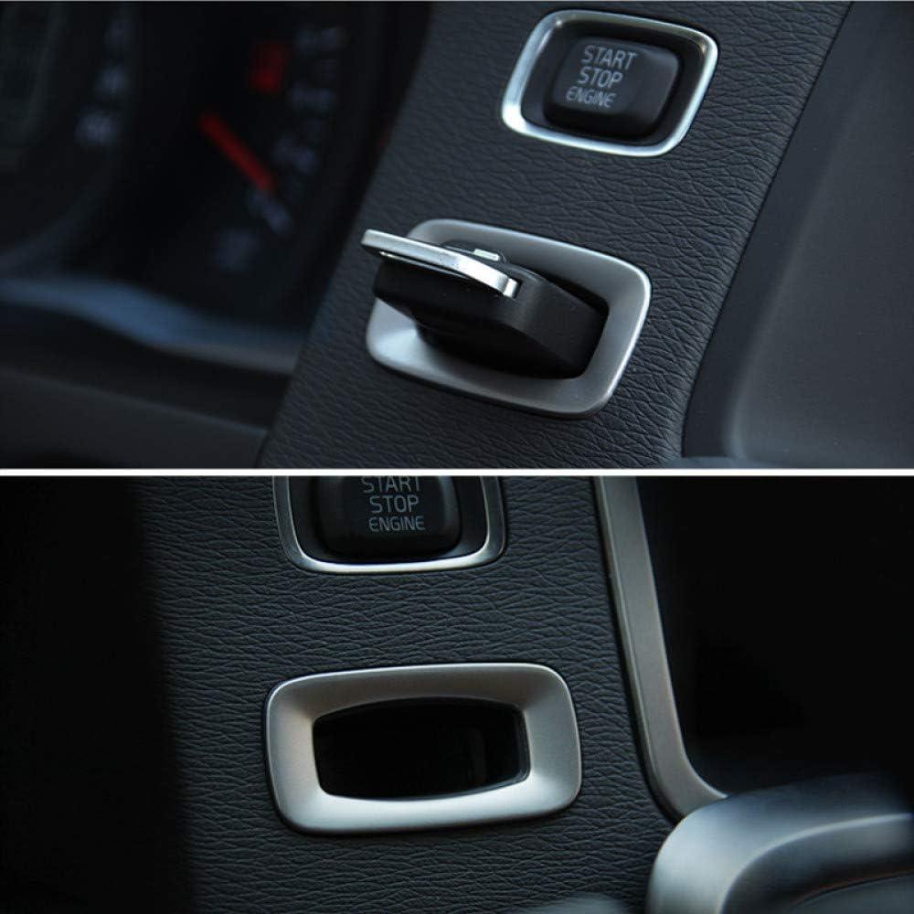 per Volvo S60 V60 XC60 V40 Gnnlor Paillettes Decorative in Acciaio Inossidabile con cruscotto e Cornice per Buco della Serratura