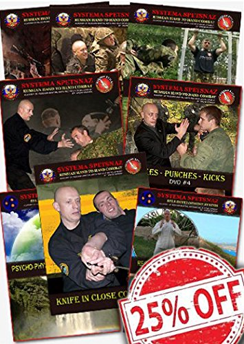 RUSSIAN SYSTEMA DVDS - Best Hand to Hand Combat DVD set of Reality Street Self-Defense Training. Martial Arts Instructional Videos for Training at Home - 8 DVD set for 25% OFF!