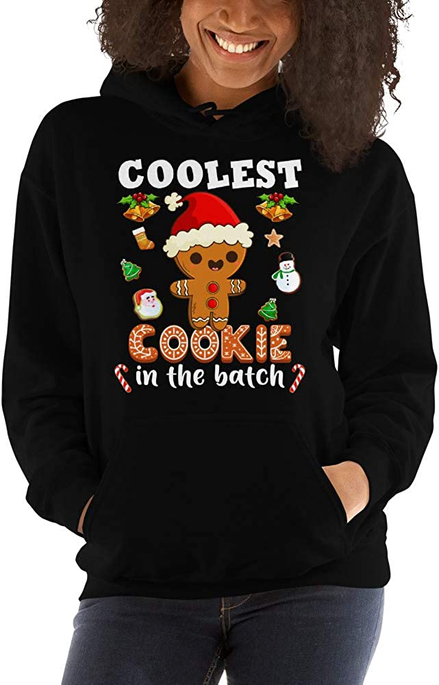 Coolest Cookie in The Batch Gingerbread Christmas Unisex Hoodie