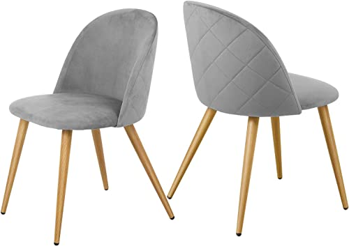 Kealive Dining Chairs Set of 2 Mid Century Modern Accent Velvet Leisure Side Chairs Upholstered Metal Leg