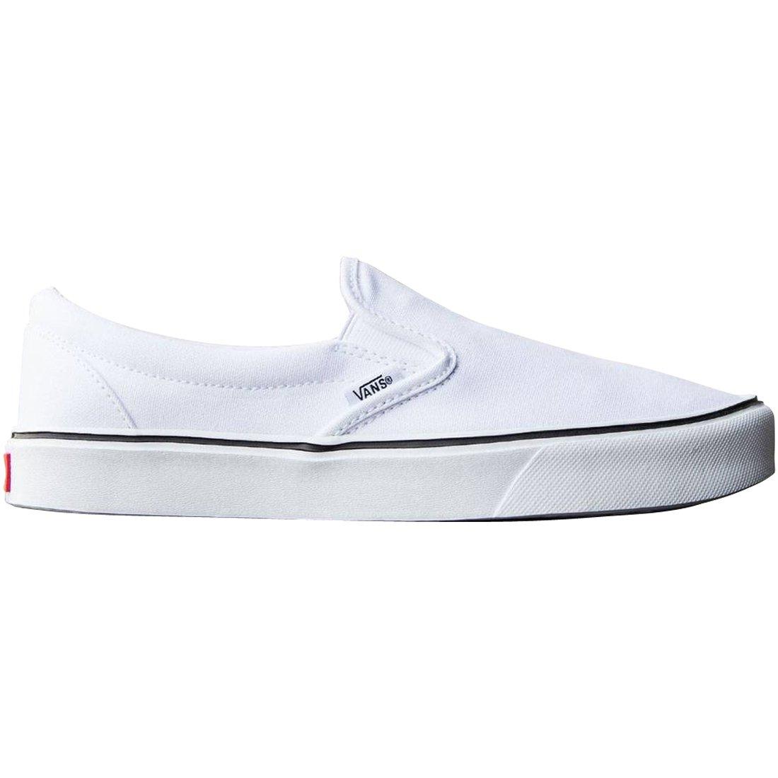 Vans Slip-On Lite Plus - Scarpe da Ginnastica Basse – Unisex – Basse Adulto, Nero (Canvas/Black/Black), 34.5 EU Bianco (Canvas/True White) 4c3223