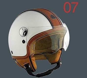 Helmo pelledura casco Moto Jet blanco M 57 cm – M 57 cm