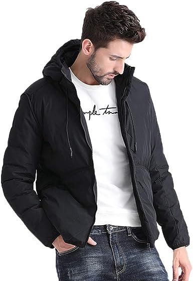 Chaqueta de algodón de moda para hombre de invierno Chaqueta delgada de abajo Ropa casual de