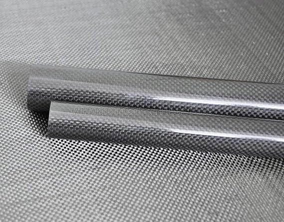 Tubing WHABEST 2pcs 5x3x500mm Glossy 5MM OD X 3MM ID X 500MM 100/% Roll Wrapped Carbon Fiber Tube 3K