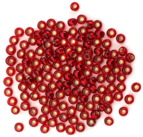 Cousin Czech Glass Beads, 6/0 E-BD Red Seed Beads, 10 (America Seed)