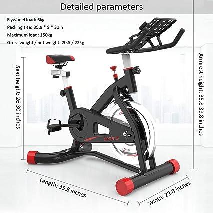 WuoooLi Bicicleta de Spinning, Asiento Ajustable,Bicicleta ...