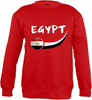 Supportershop Sweatshirt Egitto Unisex Bambino, Rosso, Fr: XL (Dimensioni Produttore: 10Anni) Fr: XL (Dimensioni Produttore: 10Anni) SUPQM|#Supportershop 5060542523189