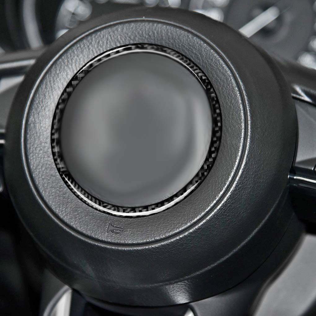 CX-5 2017-2018 La Cubierta del Volante de Fibra de Carbono del Interior del Ajuste replacemnt para Mazda 3 Axela//ATENZA//CX-4