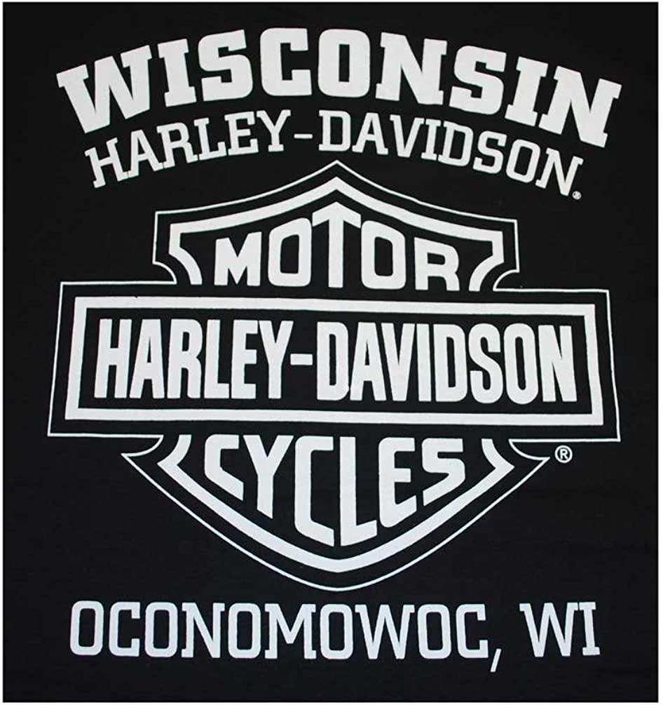 Harley-Davidson Men/'s Racing Club Eagle Short Sleeve T-Shirt Black 30298296