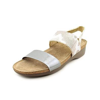 4fa67a68791c Munro American Women s Pisces Silver Camo Liquid Metal Patent Sandal 8.5 M  ...