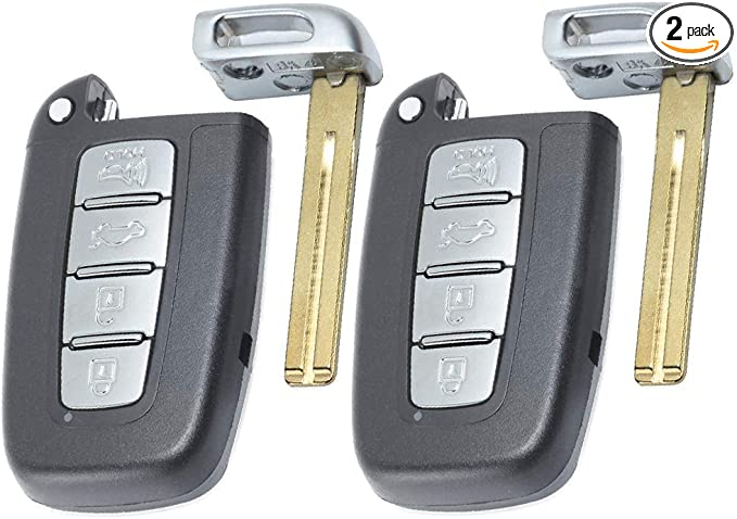 Pack of 2 ECCPP Replacement fit for Uncut 315MHz Keyless Entry Remote Key Fob Hyundai Series SY5HMFNA04