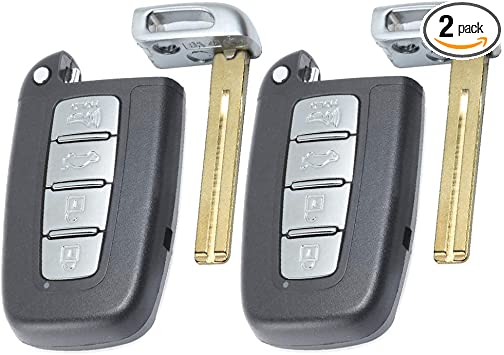 Car 4-Buttons Remote Key Fob with ID 46 Chip for Hyundai Kia