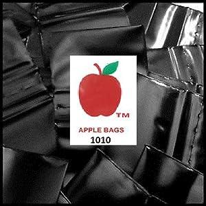 "1,000 Black 1x1 2mil Apple Brand Resealable Bags 1 1010 1"" X 1000 Baggies"