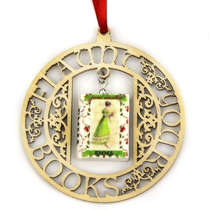 Emma Jane Austen Regency Fashion Clay Mini Book Framed Home Wall Trim Trinket Decoration Ornament